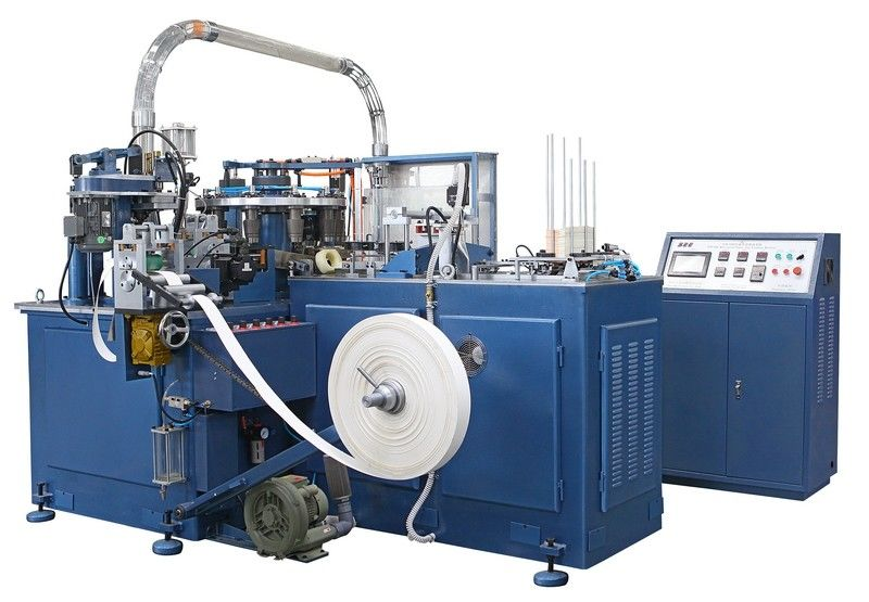 SCM-600 90pcs/min Automatic Paper Cup Machine / Making Machinery With Heater Sealing / Ultrasonic unit